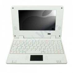 "WHITE 7"" Mini Netbook Laptop Notebook Netbook WIFI Internet Android 2.2, 3 USB Ports 4gb HD 256mb Ram (INCLUDES: Velvet Pouch Case, Charger, Mini Optical Mouse)"