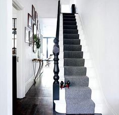 I think we need to go with the carpeted runner down the stairs. Just adds a nice touch.
