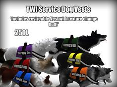 !CS! TWI Service Dog Vest   (this is on & for Second Life virtual world)