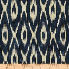 Indian Batik Ikat Indigo/Cream