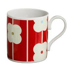 Orla Kiely - Mug - Flower - Abacus - Red http://www.sandsgifts.co.uk/orla-kiely-mug-flower-abacus-red.ir