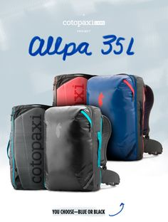The Allpa is a rugged, carry-on-compatible, 35-liter backpack system built for adventure travel. | Crowdfunding is a democratic way to support the fundraising needs of your community. Make a contribution today!