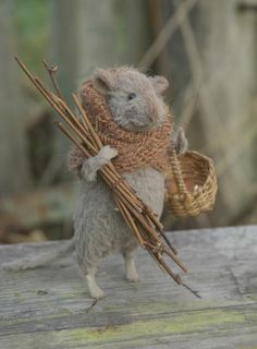 Mouse needle felt. Inspiration for making my own Mouseguard character, perhaps....