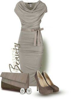 Warm gray is always elegantly becoming in Women's Fashion!