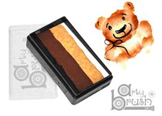 Teddy Bear Arty Brush Cake: Silly Farm Supplies Inc. Face Painting | Body Painting | Airbrush Supplies | Arty Brush Cakes | Rainbow Cakes | Clown Supplies