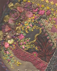 Crazy Quilt Stitches | CRAZY QUILT EMBROIDERY - Embroidery Designs