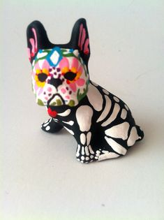 Please note *This listing is for 1* Day of the Dead Boston Terrier Dog sculpture.*    This listing is for the boston terrier shown if the first