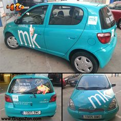 Ya hemos rotulado el coche para MK Media ¡Así da gusto moverse por la ciudad!