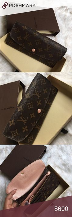 ✨ Additional Photos for LV Wallet in Rose Nacre These are some additional photos as requested (without flash). The wallet is in PRISTINE CONDITION. I used it for about 6 months before I purchased a LV zippy wallet in Empreinte. This wallet is SOLD OUT both in the U.S. & Europe. It was exclusive for Fall 2015. As promised, it will come with the receipt (proof of purchase), dust bag, and original LV box. It's absolutely STUNNING so I know someone would LOVE IT 😍 I'm in no rush to sell, so…