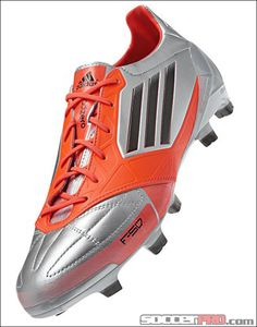 adidas F50 adiZero TRX Leather FG Soccer Cleats - Metallic Silver with Infrared and Black...$188.99