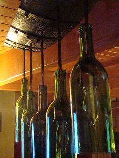 Wine Bottle Chandelier by WineBarrelFurniture on Etsy, $125.00