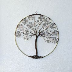 Wall Wire Tree  Business Card Holder  Made to by TwystedWyres, $45.00