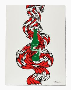 heineken has partnered with over 40 renowned individuals from the worlds of sport, entertainment and art to create 'the legendary posters', a series of unique prints in support of reporters without borders. Advertising Firms, Creative Review, Epic Story, Make Your Logo, Call Art, Graphic Design Posters, Social Media Design, Prints, Illustrations