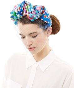 Jennifer Behr Multicolour Liberty Scalloped Voilette | Accessories | Liberty.co.uk Turbans, Turban Headbands, Headdress, Headpiece, Race Wear, Dolce And Gabbana Kids, American Girl Crafts, Races Fashion, Cocktail Hat