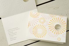 Mimosa Letterpress Wedding Invitations ( maybe change the colors to orange pink and green?)