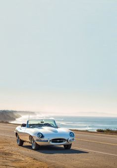 E-type Jaguar English drop head coupe.