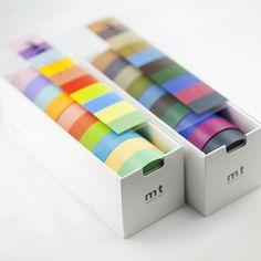 Solid Washi Tape Ten Packs