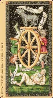 The Wheel -  Golden Tarot of the Renaissance -  Giordano Berti Jo Dworkin -  Lo Scarabeo 2004