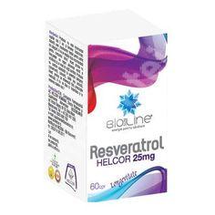 Resveratrol 25mg, 60 comprimate, Helcor