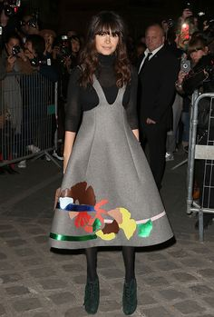 Miroslava Duma wearing #DelpozoFW15 Collection during Paris Fashion Week. #PFW