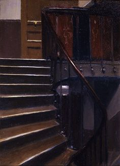 Edward Hopper, Stairway at 48 Rue de Lille, Paris, 1906