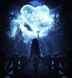"""""""Loving you is like breathing. Moonlight Photography, Moon Photography, Fantasy Photography, Beautiful Fantasy Art, Beautiful Moon, Dark Fantasy Art, Natur Wallpaper, Digital Foto, Kingdom Hearts Fanart"""
