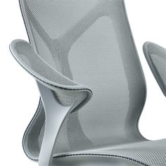 Cosm Chair, Leaf Arms and Intercept Suspension - Herman Miller Cool Desk Chairs, Leather Dining Room Chairs, Dining Chairs, 3d Interior Design, Interior Design Magazine, 3d Design, Herman Miller, Design Furniture, Chair Design