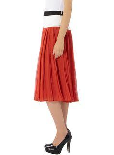 Orange Colour Block Skirt via Dorothy Perkins (not the shoes)