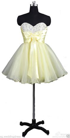 FairOnly Stock Mini Girl's Homecoming Evening Party Dresses Size 6 8 10 12 14 16