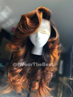Human Hair Wigs Ombre Lace Front Wigs – Care – Skin care , beauty ideas and skin care tips Curly Hair Styles, Natural Hair Styles, Natural Hair Weaves, Wig Styles, Looks Hip Hop, Twisted Hair, Birthday Hair, Baddie Hairstyles, Saree Hairstyles