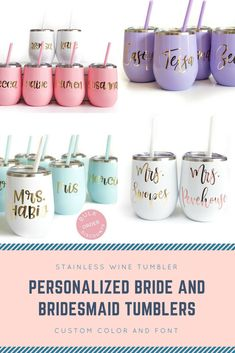 Bachelorette Tumblers, Bachelorette Party Favors, Bride and Bridesmaid Cups, Stemless Wine Tumblers, Gifts for Bridal Party #wedding #weddinggifts #weddingplanning