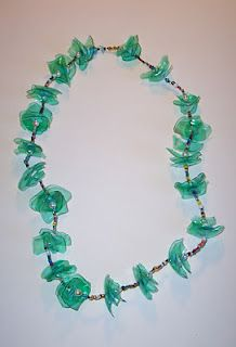 collana pet riciclo, recycled, upcycled