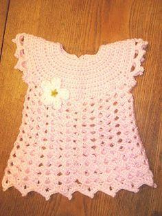 Pretty dress to crochet.  free pattern