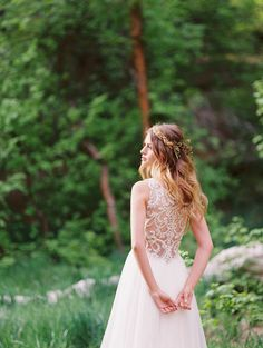 Gorgeous midsummer night's dream wedding inspiration, featuring a breathtaking beaded illusion back wedding dress, Phyllis by Maggie Sottero. Designer Wedding Gowns, Wedding Dress Trends, Wedding Dresses, Bonny Bridal, Bridal Gowns, When I Get Married, Got Married, Spring Wedding, Dream Wedding