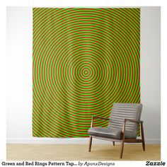 Shop Green and Red Rings Pattern Tapestry created by AponxDesigns. Red Rings, Tapestries, Wall Tapestry, Curtains, Abstract, Green, Pattern, Room, Design