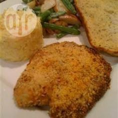 Baked Parmesan Tilapia - Made This Tonight - Easy And Yummy! Tilapia Recipes, Fish Recipes, Seafood Recipes, Great Recipes, Favorite Recipes, Seafood Dishes, Recipies, Baked Parmesan Tilapia, Recipes