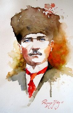 visuelles Ergebnis im Zusammenhang mit rezzan yıldız - - The Legend Of Heroes, Turkish War Of Independence, Pour Painting, Art Studies, Tattoo Drawings, Watercolor Paintings, Oil Paintings, Watercolour, Watercolor Tattoo