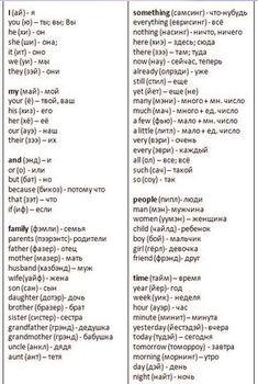 300 самых важных и нужных английских слов
