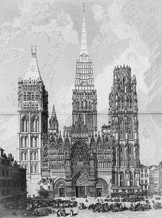 9 avril 1200 : incendie de la  cathédrale Notre-Dame de Rouen