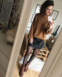 Me gusta, 32 comentarios – en Instag… Outfits Winter, Komplette Outfits, Casual Outfits, Fashion Outfits, Looks Style, Casual Looks, My Style, Pantyhose Outfits, Black Pantyhose