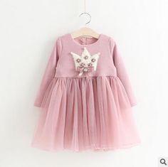 $66.00 (Buy here: https://alitems.com/g/1e8d114494ebda23ff8b16525dc3e8/?i=5&ulp=https%3A%2F%2Fwww.aliexpress.com%2Fitem%2F2016-Girl-s-Long-sleeved-crown-dress-girls-dresses-winter-girls-party-dress-5pcs-lot-WYD22%2F32729820875.html ) 2016 Girl's Long sleeved crown dress ,girls dresses winter, girls party dress , 5pcs/lot  WYD22 for just $66.00