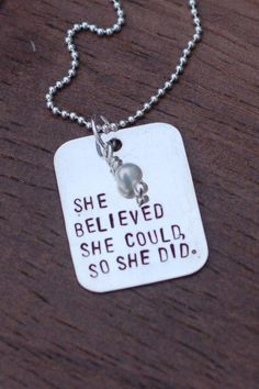She Believed / Sterling Silver Necklace
