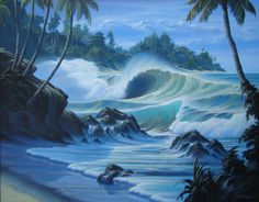 Call Surf Art or visit our site to see the breath-taking surf photography captured by our talented artitst. Polynesian Art, Ocean Shores, Wave Art, Surf Art, South Seas, Seascape Paintings, Ocean Art, Tropical Paradise, Beach Art