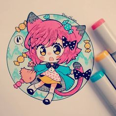 Oh My Goshhh! Luv it! *It use Copic to colour it!!