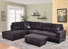 DavidDivaniDesigns Leather Sectional Orientation: | Products | Pinterest |  Leather, Http://www.jennisonbeautysupply.com/ And Leather Sectionals