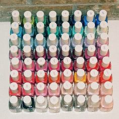 Colour Inspiration #3: mixture of brightness. Old Essie nail polish collection picture!
