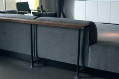 Dr. Kyle's Achromatic Industrial Loft - DIY Sofa Table