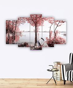 Accent a bare wall with this eye-catching artwork boasting vibrant hues and an intriguing five-panel design. 5 Panel Wall Art, Horizontal Wall Art, Rose Bouquet, First Home, Canoe, My Room, Artsy Fartsy, Tapestry, Outdoor Decor