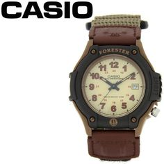 Casio Electro-Luminescent Brown Forester Mens Sports Watch