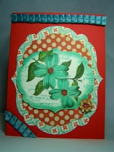 My card for the Lily Pad Virginia's View Challnege. Love these colors together!!!